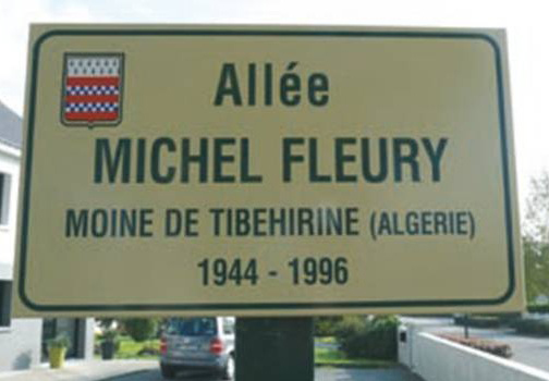 memorial plaque michel